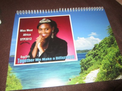 Miss West Africa STP 2012, Nella Santo's Launches Merchandise