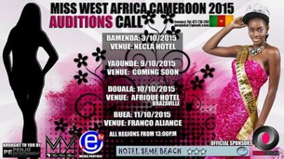 Miss West Africa Cameroon 2015 Auditions Begins 3rd October