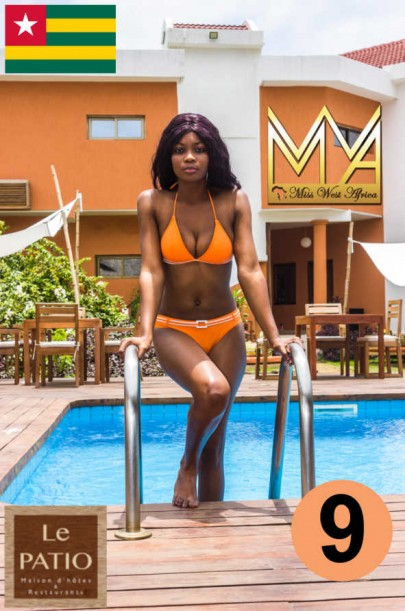 Miss West Africa Togo 2015 Contestants Poolside Shoots