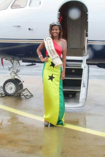 Miss West Africa Sao Tome 2015 Spotted At New Sao Tome Airport