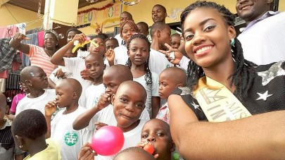 Florence Epee Spends Christmas At Orphanage